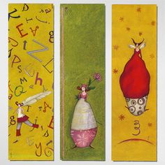 Bookmarks Illustrated by Gaëlle Boissonnard by Mirage Bookmark, via Flickr