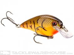 KVD Squarebill Crankbait - - Orange Belly Craw - Strike King square bill design and unique action will constantly wander with erratic action while still running true. It also helps deflect off cover to entice strikes. Dives 3 to 6 feet Bass Lures, Fishing Lures, Shallow, Wander, King, Action, Running, Unique, Cover