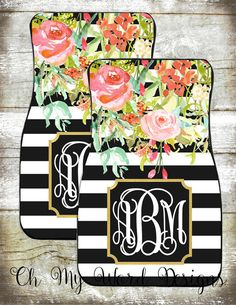 Monogram Car Mats-Car Accessories-Car by OhMyWordDesigns on Etsy - Bestpins Clean Car Mats, Minnie Mouse, Gif Disney, Car Cleaning Hacks, Ford, Car Accessories For Girls, Cute Cars, Future Car, My Ride