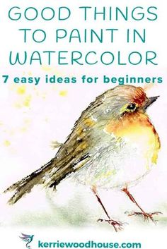 Watercolor Beginner, Watercolor Paintings For Beginners, Watercolor Pictures, Watercolor Projects, Watercolor Tips, Watercolour Tutorials, Watercolor Techniques, Easy Paintings, Watercolor Landscape