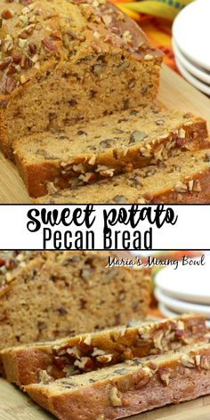 Nov 2019 - This Sweet Potato Pecan Bread is perfect for the fall and holiday season. Plus, it's a simple homemade bread recipe that's packed full of taste and flavor! Quick Bread Recipes, Easy Bread, Baking Recipes, Sweet Potato Pecan, Sweet Potato Recipes, Moist Sweet Potato Bread Recipe, Sweet Potato Cakes, Coffee Bread Recipe, Pecan Bread Recipe