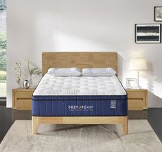 Our premium Memory Foam on top is well supported by our strong pocket springs at the bottom. It's like sleeping on the cloud but you don't feel sunken at all. Cheap Mattress, Foam Mattress, Daybed With Trundle Bed, Outdoor Furniture Sofa, King Single Bed, Mattress Springs, Queen Mattress, Memory Foam, Summer Nights