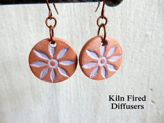 Lavender Daisy Flower Clay Disc Essential by KilnFiredDiffusers