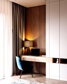 Ruhiges Interieur mit blauen und kupfernen Akzenten ... - #Akzenten #blauen #Interieur #kupfernen #mit #Ruhiges #und