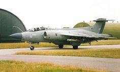 RAF Lossiemouth 1985 HS Buccaneer S2B XX889  No. 12 Sqn. Photo by Mike Brocklebank (scotrailm)