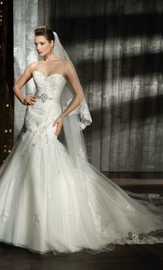New With Tags Demetrios Wedding Dress 7521, Size 6  | Get a designer gown for (much!) less on PreOwnedWeddingDresses.com
