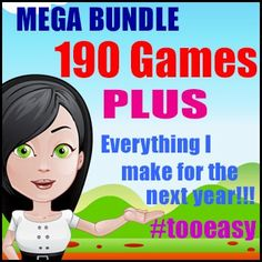 190 Printable Math Games & Reading Games in One Mega Deal - Check it Out! Literacy Games, Phonics Games, Rainbow Facts, Relief Teacher, Printable Math Games, Division Games, Addition Games, Multiplication Games, Reading Games