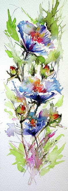 View Kovacs Anna Brigitta's Artwork on Saatchi Art. Find art for sale at great prices from artists including Paintings, Photography, Sculpture, and Prints by Top Emerging Artists like Kovacs Anna Brigitta. Watercolor Flowers, Watercolor Paintings, Watercolors, Painting Flowers, Watercolor Dress, Watercolor Paper, Graffiti Kunst, Summer Painting, Guache