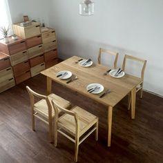 水曲柳全实木餐桌椅小户型简约中式餐桌椅原木桌子长方形吃饭桌子