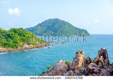 Beautiful Sea of Chanthaburi, Thailand with soft-focus and over light in the background