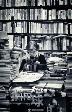 she knows where every book is...the stacks