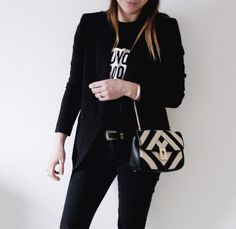 Black, white and lime outfit - www.lovebeingpetite.com