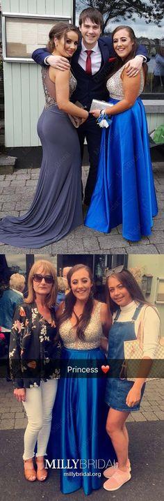 2019 Royal Blue Prom Dresses Long, A-Line Formal Evening Dresses V Neck, Sparkly Satin Military Ball Dresses Beading, Modest Pageant Graduation Party Dresses Open Back Classy Prom Dresses, Royal Blue Prom Dresses, Dresses Elegant, High Low Prom Dresses, Simple Prom Dress, Prom Dresses For Teens, Unique Prom Dresses, Prom Dresses With Sleeves, Backless Prom Dresses