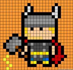 Thor perler bead pattern
