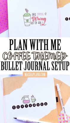 Check out my September Bullet Journal setup in this Plan With Me post. Monthly theme - coffee! And as a fun twist - I'm using kraft paper to decorate. Bullet Journal inspirations, Bullet Journal theme, Bullet Journal ideas. Bullet Journal Themes, Bullet Journal Inspiration, Journal Ideas, Monthly Themes, My Themes, Fun Drinking Games, Coffee Theme, Little Things Quotes, Mood Tracker