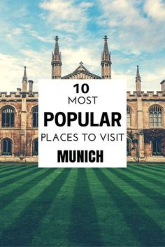 The Top 10 Most Popular Places to Visit in Munich - Guiddoo World Travels Pvt Ltd
