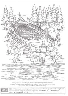 Story of the Vikings Coloring Book (Boost Series) (006072) Images - Rainbow Resource Center, Inc.
