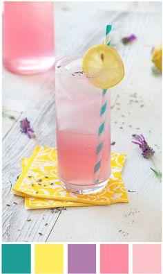 Sweet summer punch: Candy pastel colours: colour / color palette inspiration.