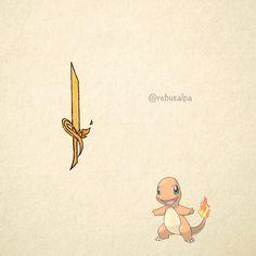 No. 004 - Charmander. #pokemon #charmander #knife #pokeapon