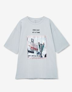 Velvet patch T-shirt - T-shirts - Clothing - Woman - PULL&BEAR Ukraine