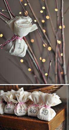No sew, reusable, charming! Simple Advent Calendar DIY // From Design Mom Nordic Christmas, Modern Christmas, All Things Christmas, Holiday Fun, Christmas Holidays, Christmas Crafts, Xmas, Christmas Stockings, Diy Calendar