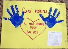 Festa dei Nonni: lavoretti per bambini (Foto 5/40) | PourFemme Reggio Children, Baby Park, Baby Painting, I School, Diy Crafts For Kids, Holidays And Events, Diy Tutorial, Greeting Cards, Paper Crafts