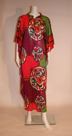 1960s Vintage Caftan Dress