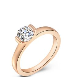 Rose Gold Ring w Austrian Gemstone|@DustyJunkcom #rosegold #rosegoldring #2015ringrtrends
