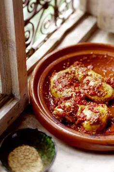 Paula Wolfert's The Food of Morocco Book Review, Chicken Smothered with Tomato Jam Recipe & a Blogiversary Giveaway