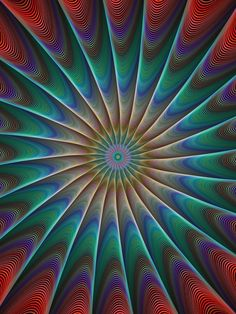 Peacock fractal background design
