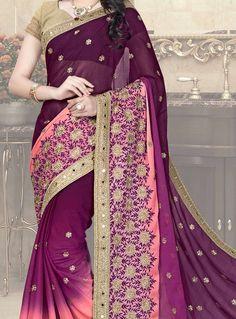 Purple Silk Festival Wear Saree 86406