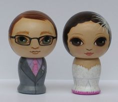 Custom Wedding Cake Toppers Hand Painted on by dandelionland,