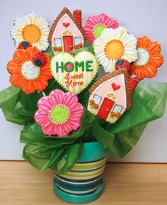 House Warming cookie bouquet ©2012Cookievonster | Flickr - Photo Sharing!