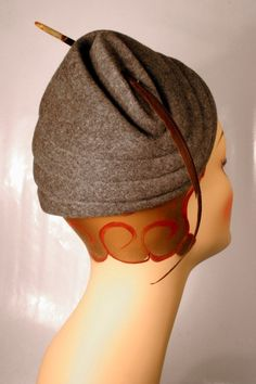 Wonderful pleated felt toque