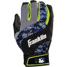 Franklin Sports Digital Shokwave Youth Batting Gloves, Multiple Colors, Blue