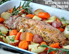 Tender and juicy marinated pork roasts in the oven with seasonal vegetables for a comforting, nutritious, and easy dinner! While it's special enough to serve to guests, this One Dish Garlic & Herb Pork Tenderloin comes together with only 10 minutes of prep and is so simple that it's equally appropriate for a weeknight supper!  Hi, friends!...Read More »