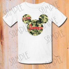 Disney Mickey Mouse Camo print Iron on transfer Printable Customizable, Mickey Mouse Birthday Party shirt, Animal Kingdom Trip Shirt