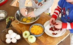 Easy Recipes that Kids can Cook - sorted into breakfast lunch and dinner. Because I want my kids to learn the fun of cooking. :)