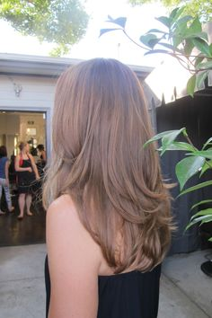 Light warm golden brunette. Color by Amanda George.