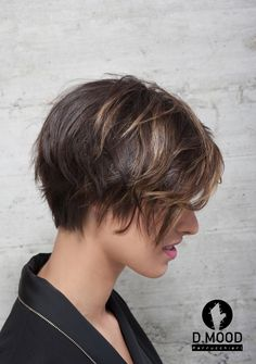 ESSENTIAL made in #dmood #hair #cut #newcollection #color #dmoodneverstops Short Cuts, Hair Cut, Aldo, Pixie, Collection, Style, Gatos, Hairdos, Pixie Cuts