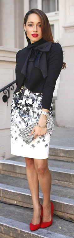Amazing Business LAdy Look Black and White Classical colours Perfect Skirt.