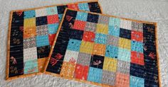 Scrappy Patchwork Place Mat Tutorial | A Quilting Life - a quilt blog