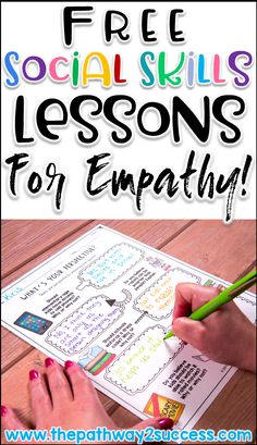 Free social skills lessons to teach perspective-taking and empathy skills!