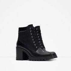 Image 2 of LACE-UP HIGH HEEL ANKLE BOOTS from Zara