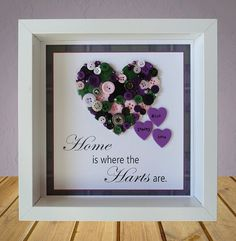 Button Heart Frame Button Art Home is by CraftyLittleMonkey14