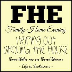 Life Is Fantasmic: FHE: Helping Out Around the House