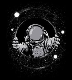 Black Hole is an astronaut shirt dsigned by digitalorgasm #space #shirt #astronaut #digitalorgasm
