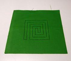 mola, mola lessons, mola ideas, mola meander, meander on fabric