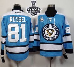 55832135f Penguins  81 Phil Kessel Light Blue Alternate 2017 Stanley Cup Final Patch  Stitched NHL Jersey