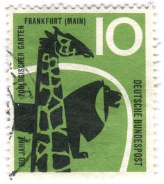 Germany postage stamp: zoo